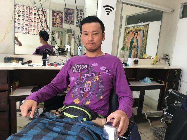 完成!グアテマラの床屋でジャスティンビーバーの髪型できた!