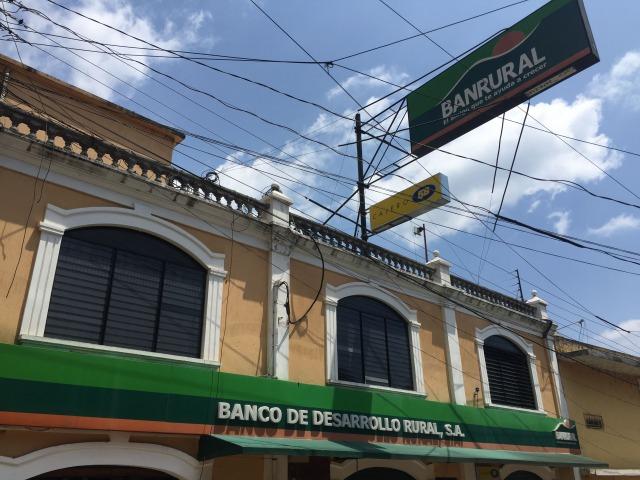 ティカル遺跡を管理するBanrural銀行