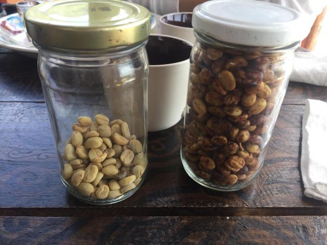 サンフアンララグナで取れたコーヒー豆