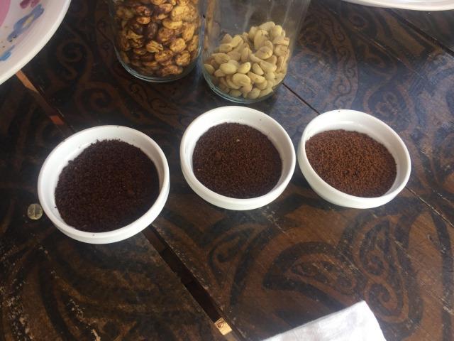 サンフアンララグナのコーヒー豆を挽いたもの