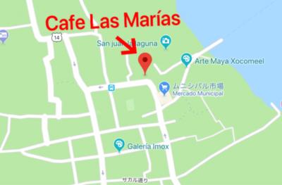 サンフアンララグナにあるカフェラスマリアスの地図