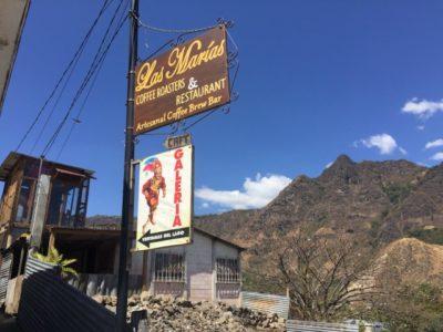 サンフアンララグナにあるカフェラスマリアスの看板