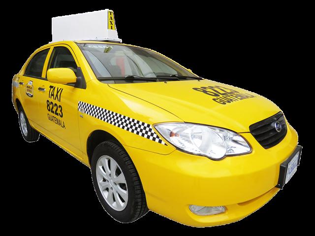 グアテマラシティのタクシー