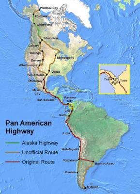 グアテマラ交通の要パンアメリカンハイウェイ
