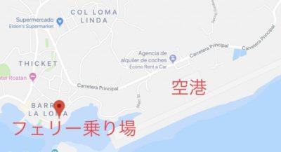 ホンジュラス・ウティラ島の地図